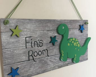 Dinosaur Themed Bedroom Door Plaque & Dinosaur door hanger | Etsy Pezcame.Com