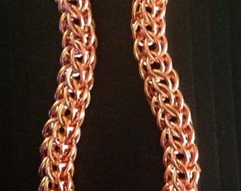 Copper full Persian, fox bracelet, chainmaille