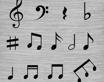 17 x Musical Note Brushes, High Quality, Falling notes, Music notes, ABR Files, Instant Download.