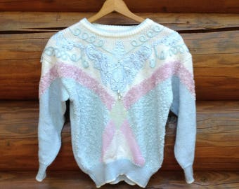 Jaclyn Smith 80s unicorn sweater size medium