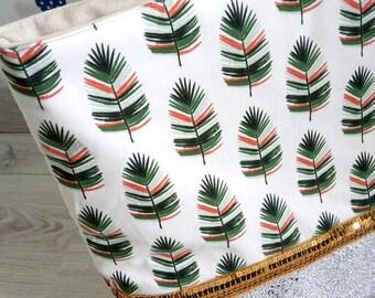 Women tote bag ~ Cazek white/green