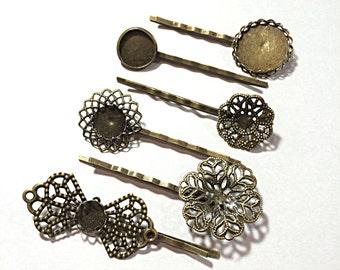 Ornate filigree bobby pin blanks