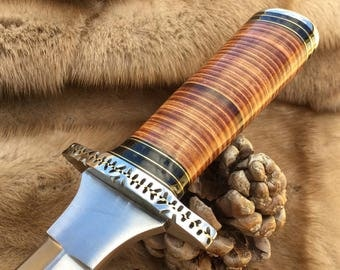 Handmade knife, DAGGER, Bowie Knife, Gift Knife, Hunting knife, Custom knife, Custom DAGGER. 14.164