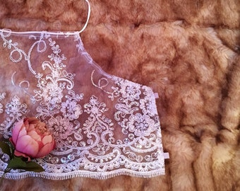 Lace Sequin Embroidery Halter Top - Crop top / Halter / Boho /Festival