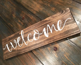 Hand-Lettered Custom Welcome Sign, Housewarming Gifts, Welcome Home, Family Welcome