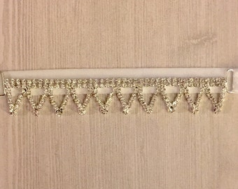 Crystal Garter, Rhinestone Garter, Bridal Garter, Wedding Garter, Glam Garter, Vintage Garter-Claire