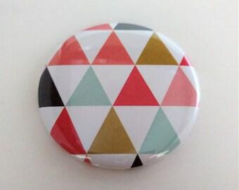 Geometric Pocket Mirror