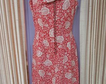 60's Mod Toni Todd Floral  Dress