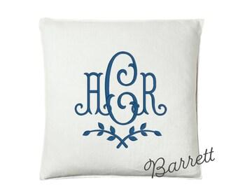 "Barrett Monogram Pillow, 25"" x 25"""