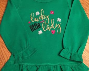 Lucky Little Lady Shirt, St Patricks Day shirt, St Paddys Day shirt