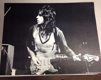 Jeff Beck - Poster 1977 live in Dallas Tx