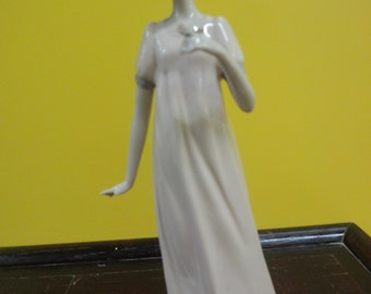 European NADA figurine of a lady holding a rose height=25cm