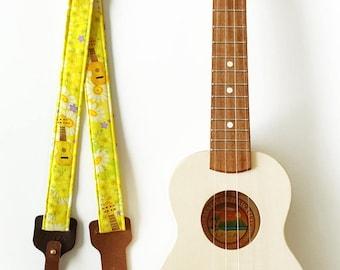 Ukulele Strap _ Honey Flower / Ready to ship / ukulele accessories