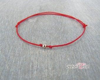 Kabbalah bracelet / kabbalah bracelet / red and gold - plated bead Creation of sparkle