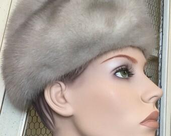 Vintage Silver Mink Hat By Elizabeth Ford
