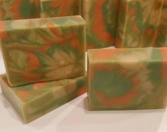 Patchouli Saffron scented Handmade Vegan Cold Process Soap