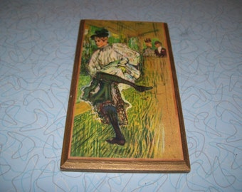 Vintage Gallery Miniature Toulouse-Lautrec Jane Avril Dancing.