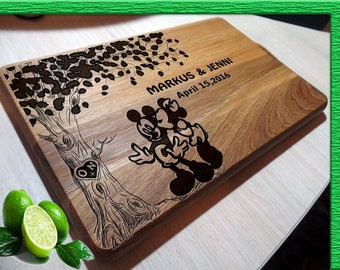 Disney wedding gift cutting boards handmade Mickey Mouse cutting board Wedding gift Disney Wedding Gift Cutting Board boards L2-03-001