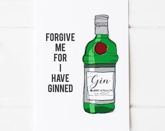 Gin Print A4