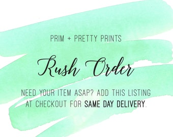 Rush Order Add On - (Same Day File Delivery)