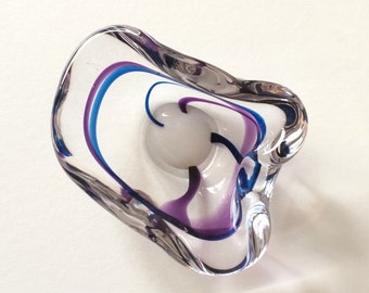 Vintage Max Verboeket Maastricht ashtray-glass object-signed-glass art