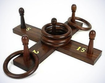 Handcrafted Sheesham Wood Ring Toss Game