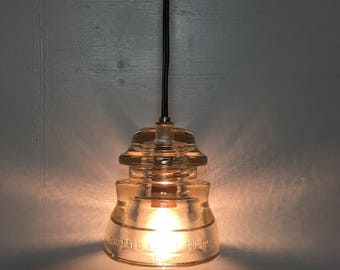 Glass Insulator Pendant Light