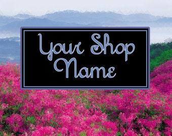 Azalea Banner Set, Floral Banner Set, Shop Banner Set, Graphic Design, Cover Photo, Digital Graphics, Custom Banner, Premade Banner