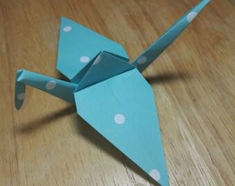 20 Origami Crane Wedding Favors / Baby Boy B1/4