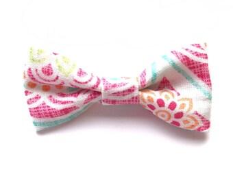 Island Time Classic Bow - Nylon Headband or Alligator Clip - Spring Summer Hair Bow - Baby Headband - Girls Hair Accessories