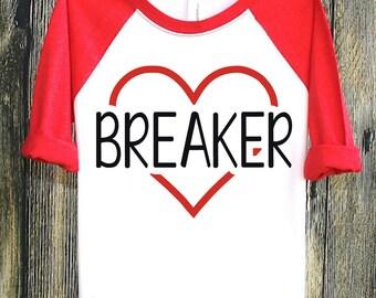 Heart Breaker | Valentines | Valentine Shirts | Valentines Day | Valentines Day Shirts | Valentines Kids, Kids Valentines, Heart Tshirt Kids
