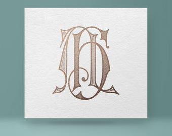 Vintage monogram AH - HA | Wedding Monogram | Vector Monogram