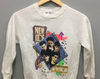 New Kids On The Block Vtg80,90 sweatshirt kids saiz made in usa