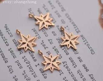 10 of 14K gold filled tiny north star charm pendant BQ