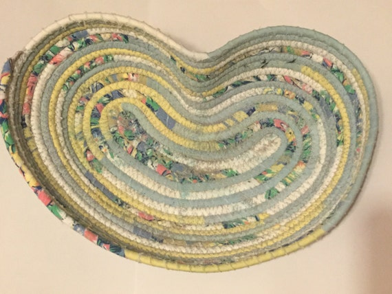 Handmade Heart Basket : Items similar to handmade heart shaped coiled basket on etsy