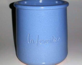 "Blue Yogurt Pot ""La Laitière"""