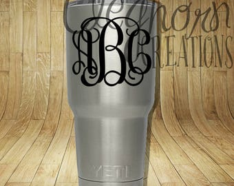 Monogram Sale! | Monogram Decal | Monogram Sticker | Personalized Decal | Name Decal | Initial Decal | Car Decal | Tumbler Decal | Custom