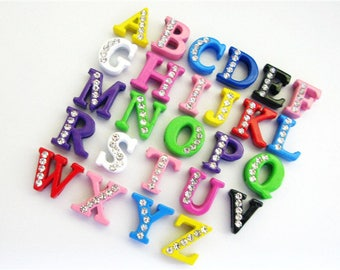 Letter Charms for 8mm bracelet belt