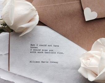 Miss You - Poem