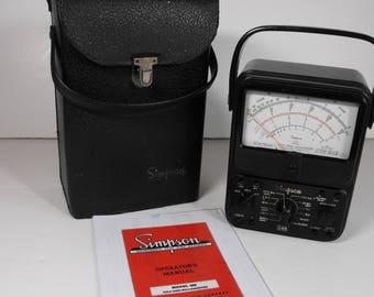 Vtg Simpson 260 Series 6 Analog - Vom Voltage Ohm Milliammeter AC/DC in Leather Case    (1028)