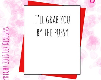 Hilarious Donald trump inspired valentines day card for her banter joke rude funny novelty presidential