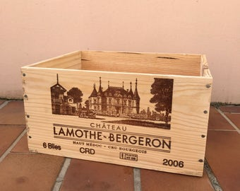 French Original Wine Crate Bottle BERGERON 2703201720