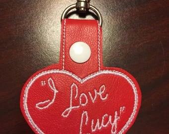 I Love Lucy key fob