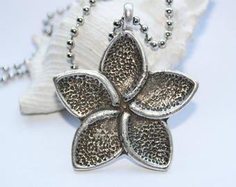 Chain silver, amulet, talisman, necklace, silver pendant, antique silver, Lotus Flower.