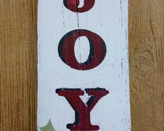 Joy Holiday Pallet Sign