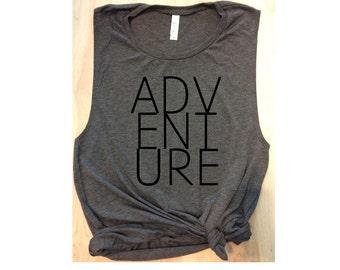 adventure workout tank / women's tank / women's workout tank / muscle tee / gym tank / cute workout shirt / women's running tank / strong