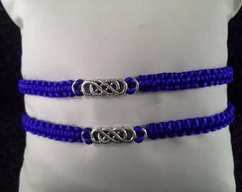 his and her triple infinity bracelets
