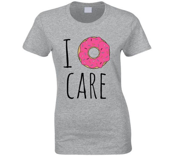 I Donut Care Pink Donut T_shirt, Funny T-shirt For Her