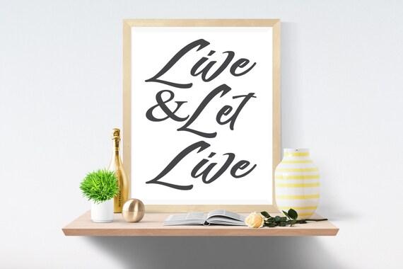 Live, Printable Art, Wall Art, Art Print, Art Prints, Wall Prints, Digital Paper, Quotes Print, Printables, Modern Art, Modern Wall Art