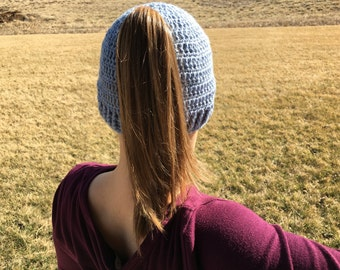 PATTERN ONLY - Crochet Ponytail Beanie